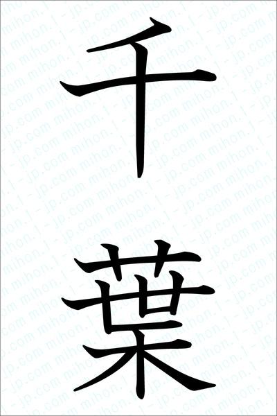 千葉の漢字書き方 習字 千葉レタリング